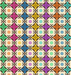 Seamless pattern of colorful ornament vector