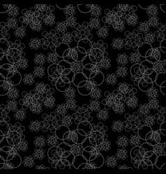 Seamless pattern with geometric shapes and symbols vector