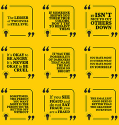 Set of motivational warning quotes about evil vector image vector image