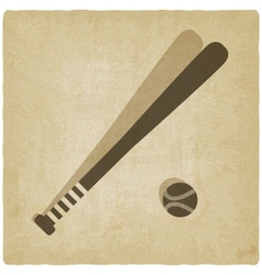 sport baseball logo old background vector image vector image