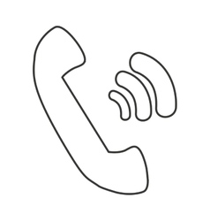 telephone retro isolated icon vector image vector image