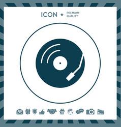 Vinyl record turntable icon vector