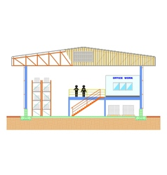 Warehouse building storage section structure vector image vector image