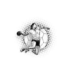 women handball vector image vector image