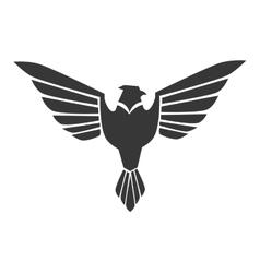 eagle wing open stripes symbol icon graphic vector image