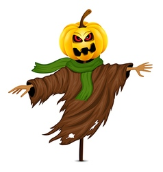 Scarecrow for halloween isolated vector