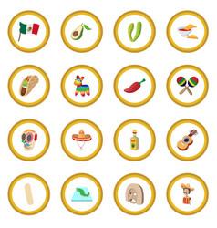 mexico icon circle vector image