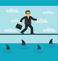 Businessman risks and fears vector
