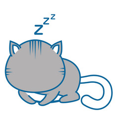 isolated cute cat sleeping vector image