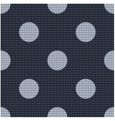 Seamless polka dots textured pattern vector