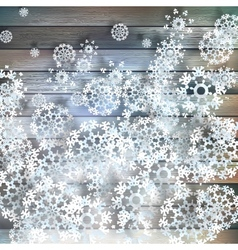 Christmas snowflakes on wood plus eps10 vector
