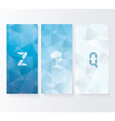 Abstract cover blue background banners set vector image