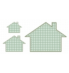 Several houses of fabric cute baby style vector