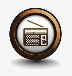 Radio web icon vector