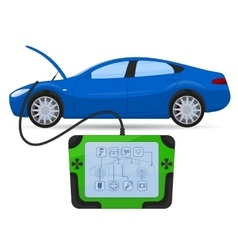 Car diagnostics test service vector