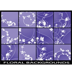 abstract floral backgrounds set vector image