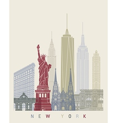 New york skyline poster vector