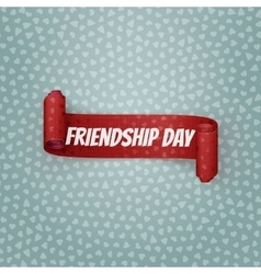 Friendship day red festive ribbon vector