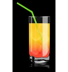 Color cocktail in a glass vector