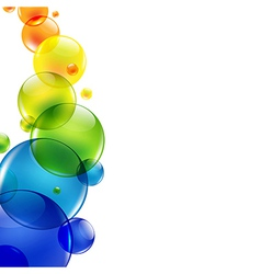 Abstract Background With Color Balls vector image vector image