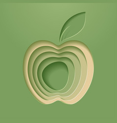 apple poster modern styled vector image vector image