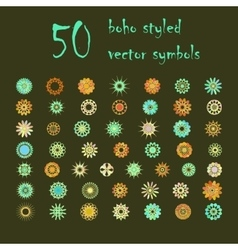 Big set of abstract design flowers vector image