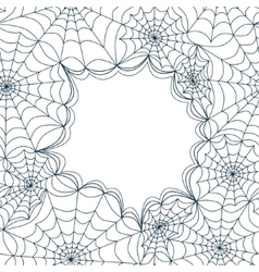 Card template with spiders web seamless vector image vector image