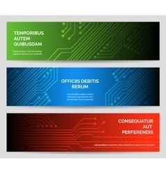Circuit board Tecnnology Banners set vector image vector image
