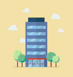 Company building in flat style vector