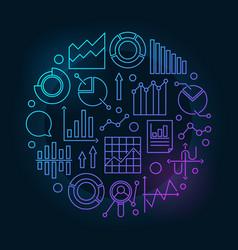Data analytics circular vector
