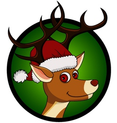 deer head cartoon vector image vector image