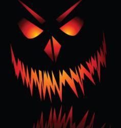 Evil face vector