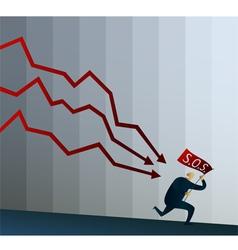 Financial Crisis haunted by debts vector image vector image