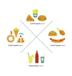 Flat fast food vector