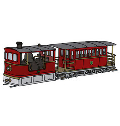 Historical steam tramway vector
