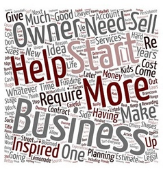 How to Start a Business text background wordcloud vector image vector image