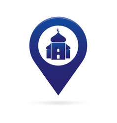 Mosque surau map pointer icon marker gps location vector