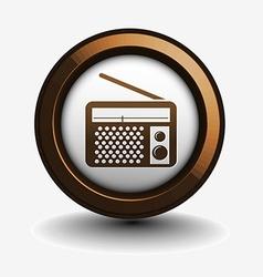 radio web icon vector image vector image