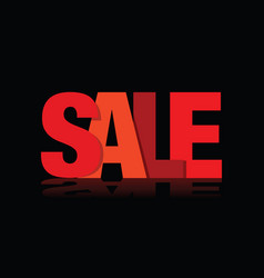 red sales sign vector image