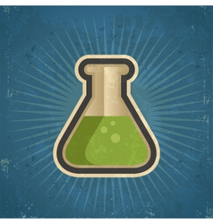 Retro Grunge Test Tube vector image