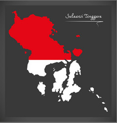 sulawesi tenggara indonesia map with indonesian vector image vector image