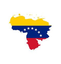 Venezuela flag and map vector