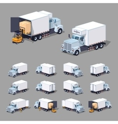 White truck refrigerator vector image vector image