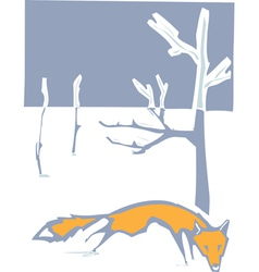 Winter Fox vector image vector image