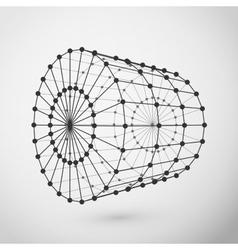Wireframe cylinder polygonal element vector image