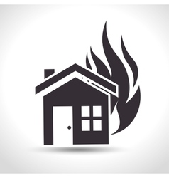 House insurance fire house design vector