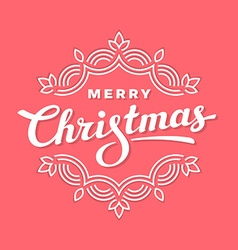 Merry christmas lettering card vector