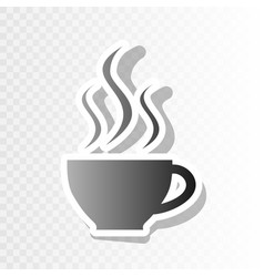 Cup of coffee sign  new year blackish icon vector