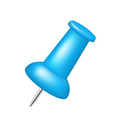Push pin in blue design vector