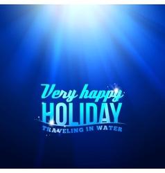 Underwater sunrays for aqua travel design vector image